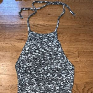 Halter open back tank top